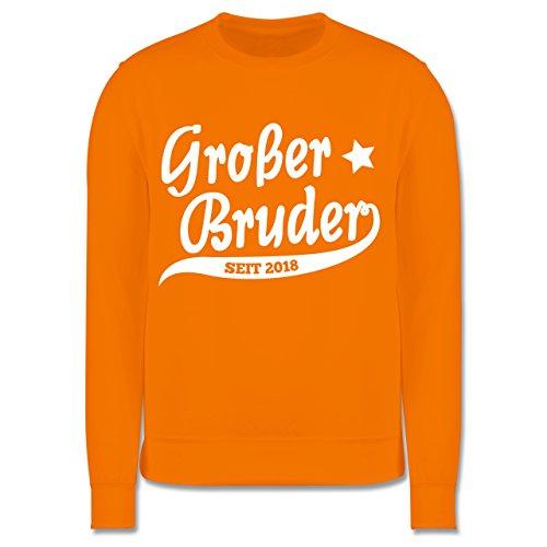 Geschwisterliebe Kind - Großer Bruder Seit 2018-7-8 Jahre (128) - Orange - JH030K - Kinder Pullover