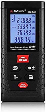 SNDWAY SW-T4S Digital Laser Rangefinder 40M Distance Meter Tape Measure Area/Volume Diastimeter
