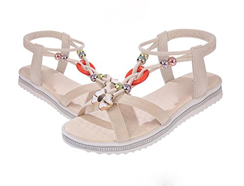 pengweiMme sandales plates ¨¦t¨¦ inf¨¦rieure douce chaussures antid¨¦rapantes plage Rome 1