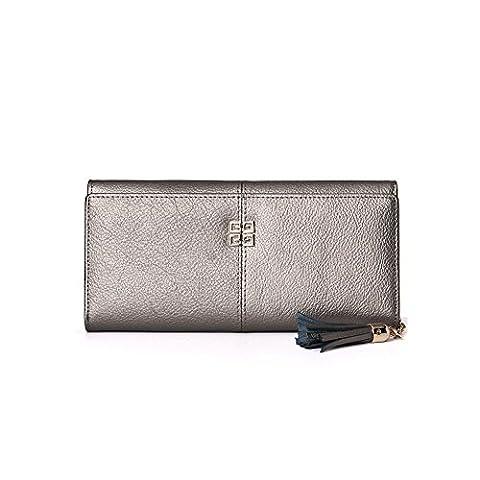 Women Blocking Wallet Ladies Clutch Wallet Women's Large Capacity Genuine Leather Wallet With Zipper Pocket Purse Credit Card Clutch Holder