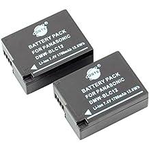 DSTE 2-Pacco Ricambio Batteria per Panasonic DMW-BLC12 Lumix DMC-G5 DMC-G6 DMC-G7 DMC-GH2 DMC-FZ200 DMC-FZ200GK DMC-FZ1000 V-LUX4 Leica Q