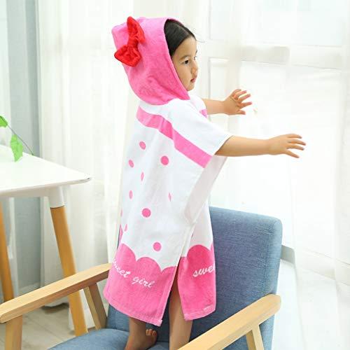 Tier Kapuze Baby-Handtuch Waschlappen Ultra Soft und Extra Large, 100% Baumwolle Bademantel for Dusche Geschenk for Jungen oder Mädchen (2-6 Jahre) (Color : Butterfly)