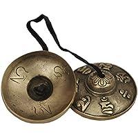 Dharma Store–tibetana Tingsha platillos–6,6cm, Om Mani Padme