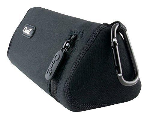 Cambridge SoundWorks - OontZ Angle 3 Ultra Bluetooth Lautsprecher Offizieller Koffer, mit Aluminium Karabiner, Neopren Verbessert mit verstärktem Reißverschluss Schwarz [Nicht FÜR OONTZ Angle 3] -