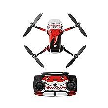 Linguhang Drone Decalcomania Impermeabile AntiGraffio di Protezione Guardia Skin Guard per DJI Mavic Mini Accessori (Tipo 8)