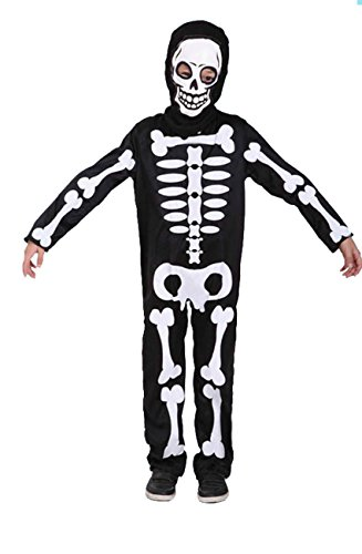 Pretty Princess Halloween Boys Skull Kostüm Set Skelett Jumpsuit, Scary Skull Outfit, Kostüm Kostüm 5-6 Jahre