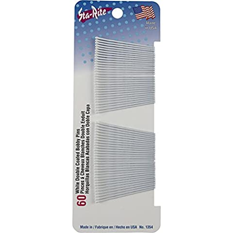 Sta-Rite White Bobby Pins - 60 count by Sta-Rite - Sta Rite Pins