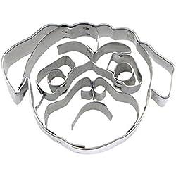 Staedter, diseño de cara de perro cortador de galletas, color plateado