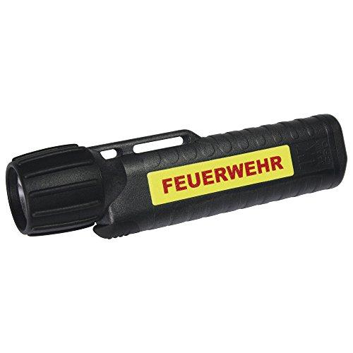 feuerwehr handlampe UK Lights Helmlampe 4AA eLED Cpo, nachleuchtendem Streifen, Feuerwehr, ES/Frontschalter, schwarz 14444NF