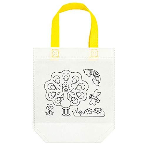 HavanaYZ DIY Umweltschutz Graffiti Tasche Handgemachte Malerei Kindergarten Tote Taschen Puzzles für Kinder Geschenk 2 -
