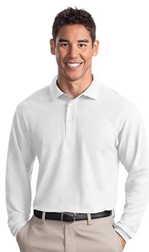 Port Authority Herren Groß und hoch Pique Polo Shirt Weiß