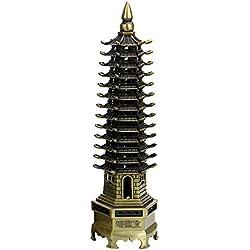 chinesischer traditioneller wen chang Turm, Metall chinesisches Kultur Turm Handwerk, gut für Erwachsene Karriere & Kinder studieren, chinesisches klassisches Maskottchen, Büro & Heim-Kunstwerk