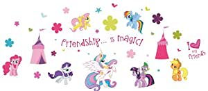 My Little Pony ST0634 ST0634 My Little Pony Wall Stickers, 39 reusable stickers Color: Little Pony