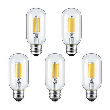 CHUCHEN 6W E26/E27 Lampadine LED a incandescenza 6 COB 560 lm Bianco caldo / Luce fredda V 5 pezzi , 100-120v
