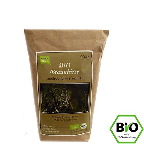 BIO Braunhirse Gemahlen   1.000 g   Vom Biohof Beck   Kalt-Vermahlen   Wildform   Urhirse