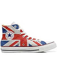 Converse Custom Printed Italian Style With English Flag