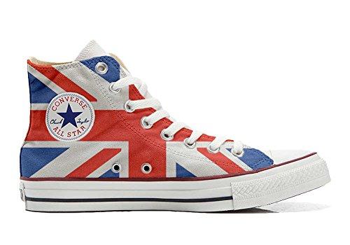Converse Customized Adulte - chaussures coutume (produit artisanal) avec drapeau anglais