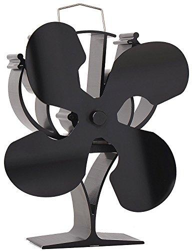 VODA Diseñado 4Cuchillas Ventilador para Estufa Quemador de Madera/Registro/Chimenea–Respetuoso con el Medio...