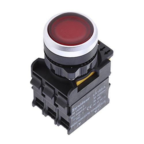 Sharplace Bouton Poussoir Momentané Interrupteur Switch Contacteurs La155 A Ui 660v 10a - Rouge