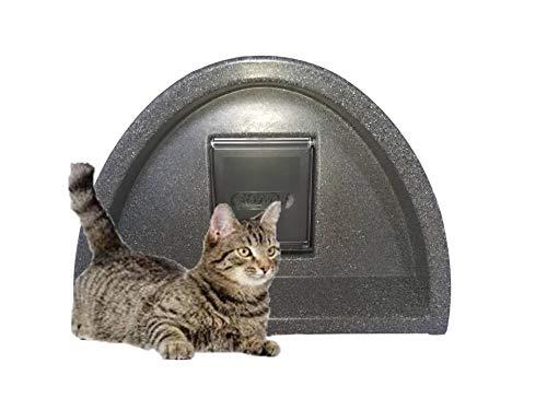 Katzenhaus mit runder Klappe