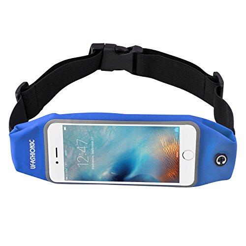 ufashion3C Universal Running Gürteltasche Taille Pack mit Reißverschluss, Schlüssel Halter, Handy Halter für Nexus 6, 6P, iPhone 6, 6S, 6Plus, 6S Plus, Samsung Galaxy S5, S6, S7, Edge, Note 2, 3, 4, 5–9Farben