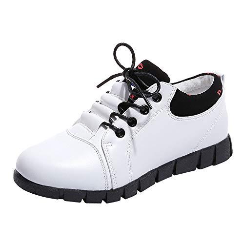 Damen Schuhe,TWBB Mode Leder Schnüren Leichtgewicht Laufen Schuhe Luftkissen Sportschuhe Outdoor Breathable Freizeitschuhe