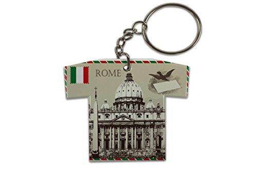 LEotiE SINCE 2004 Schlüsselanhänger Stadt Rom Italien Trikot bedruckt