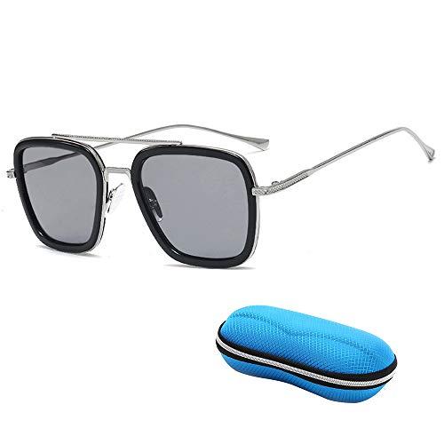 GLASSES Polarisierte Sport-HD-Sonnenbrille, Iron Man mit Stilvollen Bunten Eckigen Sonnenbrillen, Anti-UV-Sonnencreme Blendfreie Sonnenbrille, Geeignet Für Reisen/Fahren/Party/Strand/Einkaufen