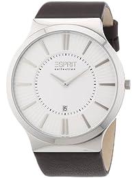 Esprit Herren-Armbanduhr XL Leodor brown Analog Quarz Leder EL101381F02