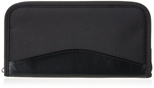 p&m Travel Wallet - Ticket-Tasche für Reisedokumente, Kreditkarten Visitenkarten und Stift mit Reißverschluss- ideal für Urlaubsreisen- schwarz von presents & more