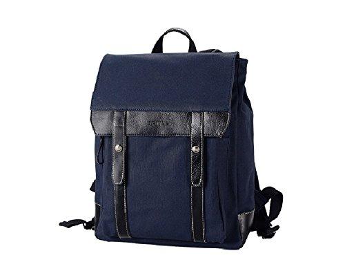 LINSHI TASKS Herren Tasche Herren Rucksäcke Herren Reisetaschen Canvas und Leder Vintage Modern Freizeit L15A (Blau) Blau