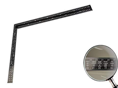Zimmermannswinkel 90° aus Stahl 600 mm x 400 mm mit metrischer und zölliger Skala