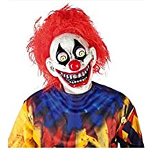 Haunted House Mascara The Clown con Ojos Moviles, (Rubies S5144)
