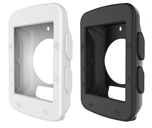 BlueBeach® 2 Stück Silikon Schutzhülle Schutz Hülle für Garmin Edge 520 GPS Fahrradcomputer (Schwarz und weiß)