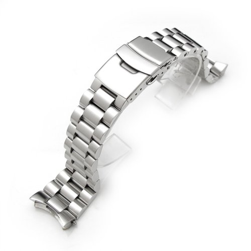 Endmill Armband für Armbanduhr Seiko Diver SKX007, 22mm, aus massivem, gebürstetem Edelstahl