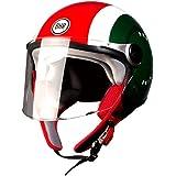 BHR 93793 Demi-Jet Cool Italy 710 Casco de Moto, Talla 57/58 (M)