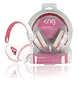 KNG Bulldozr Chaos Constructor Designer Headphones - Pink