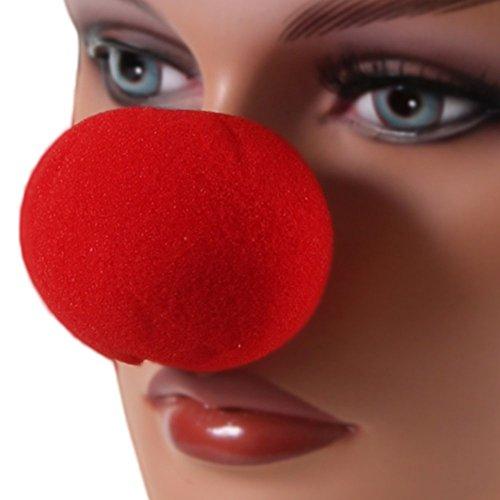 f Nase Clownnase Clown Nase Rote Rentier Nase Red Nose Schaumstoff Nase Kostüm Verkleidung Zubehör (Rentier Nase Kostüm)