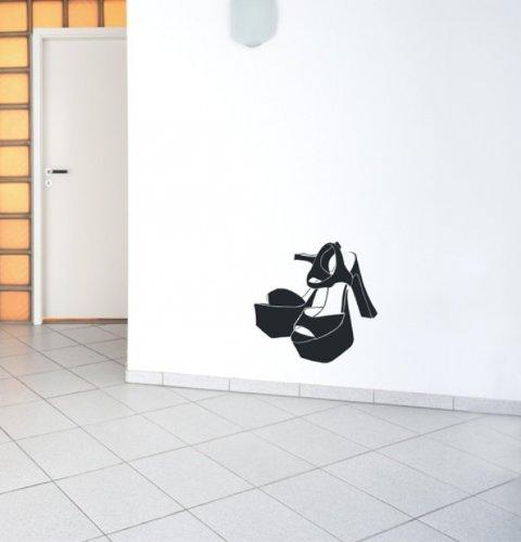Wandtattoo Schuhe Pumps Nr. 236 - Wandaufkleber Wandmotiv Größe: 117 x 117cm (BxH) in lindgrün