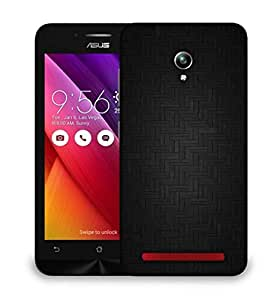 Snoogg Dark Black Floor Design Designer Protective Phone Back Case Cover For Asus Zenfone GO