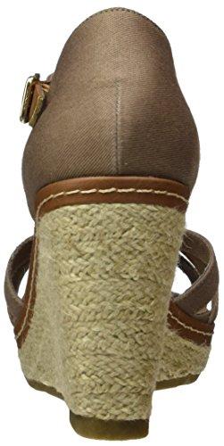 Tom Tailor 2790813, Scarpe Col Tacco con Cinturino a T Donna Braun (Mud)