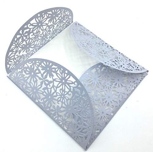 Simplelettering Stanzschablone Cutting Dies Bordüre Blumen Halbkreis Geeignet für Big Shot
