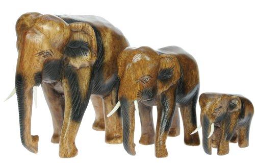 Figura del elefantes x 3 - ornamento de la decoracion del hogar...