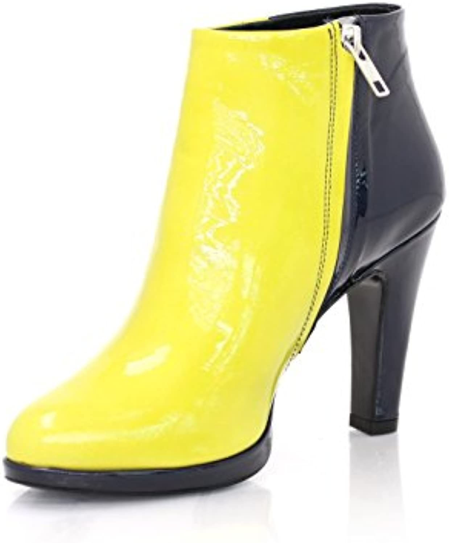Diamond Heels - Botas de Piel para mujer Lemon