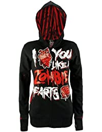 Cupcake Cult Hooded Sweater ZOMBIE HEARTS black S