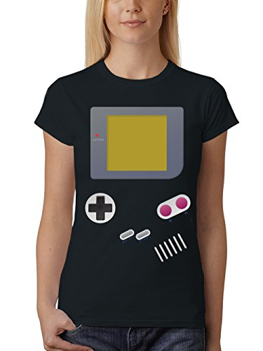 Tetris Kostüm - clothinx Damen T-Shirt Fit Handheld Schwarz