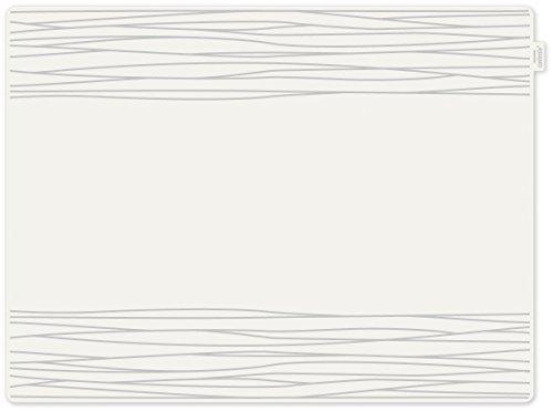 contento 655537 Jay Set de Table Motif Strip Plastique Gris 40 x 30 x 10 cm