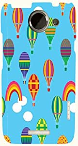 Attractive multicolor printed protective REBEL mobile back cover for HTC One X+ ( X Plus ) D.No.N-T-4456-htcX