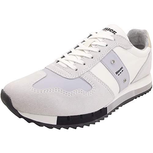 Blauer Melrose 9SMELROSE01 Damen Sneaker, weiß/hellgrau (White), Gr. 36