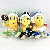 Yijinbo Super Mario Bros Boomerang Bomb Bro - Martillo (3 Unidades) Koopa Troopa - Tortuga de Peluche (20,3 cm)